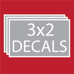 "Rectangle 3""x2"" Decals (100 units +Price Breaks Available)"