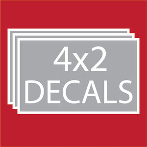"Rectangle 4""x2"" Decals (100 units +Price Breaks Available)"