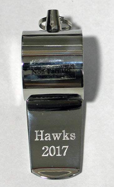 Silver Whistle - With Engraved Coach Logo