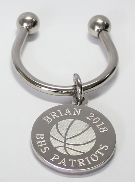 Basketball Engraved Keychains