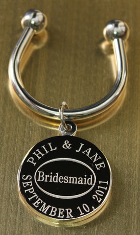 Bridesmaid Engraved Keychains