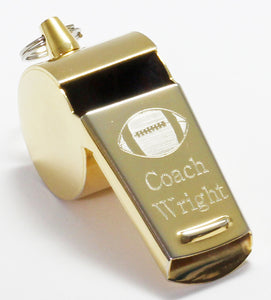Personalized Gold Whistle