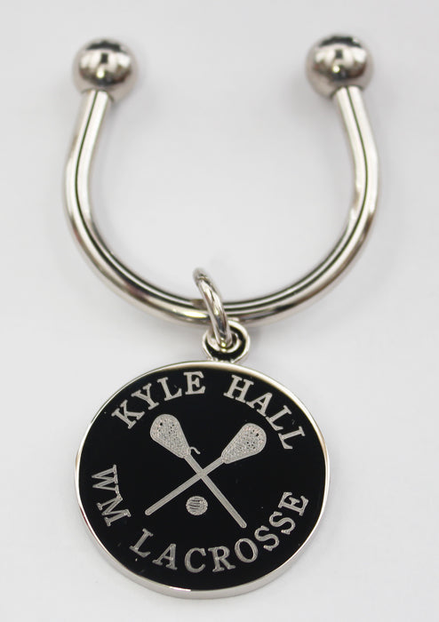 Lacrosse Engraved Keychains