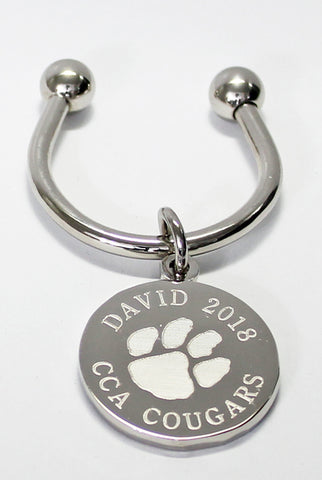 Paw Print Engraved Keychains