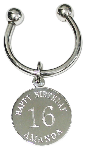 Birthday Engraved Keychains