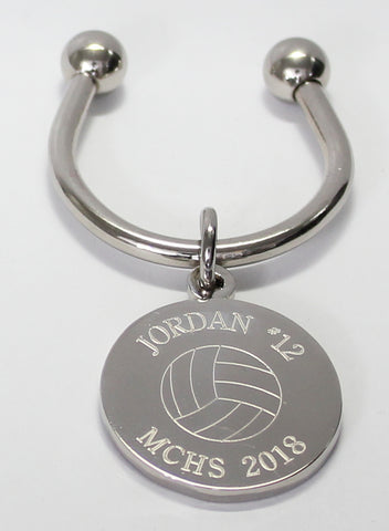 Volleyball Keychains