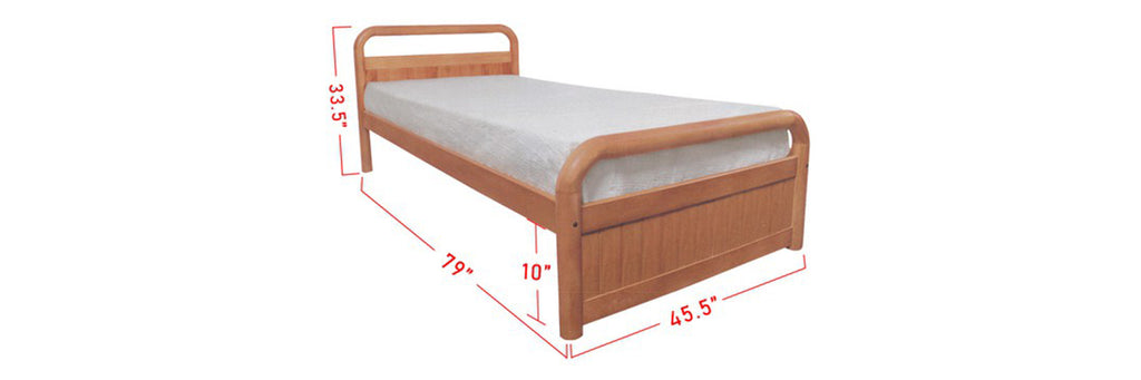 Alfie Wooden Bed Frame Cherry In Super Single Size