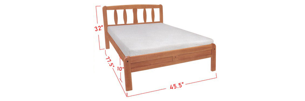 Amory Wooden Bed Frame Cherry In Super Single Size