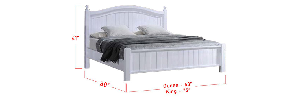 Ari Series 2 Korean Style Wooden Bed Frame White In Queen And King Size