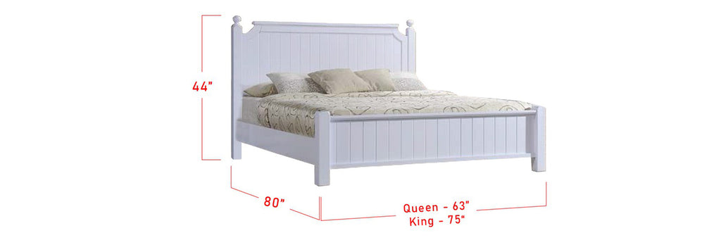 Ari Series 3 Korean Style Wooden Bed Frame White In Queen And King Size