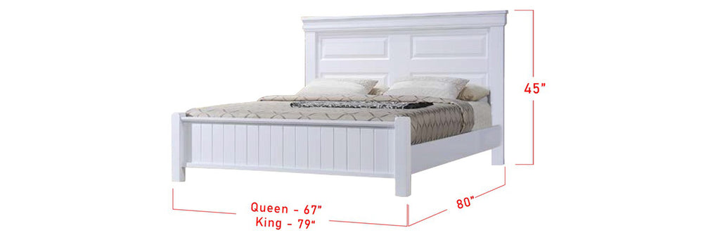 Ari Series 4 Korean Style Wooden Bed Frame White In Queen And King Size