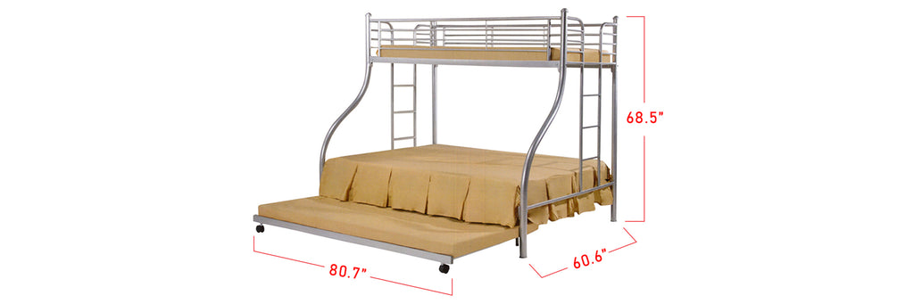 Aurora Series 11 Metal Bunk Bed Frame In Queen and Single Size