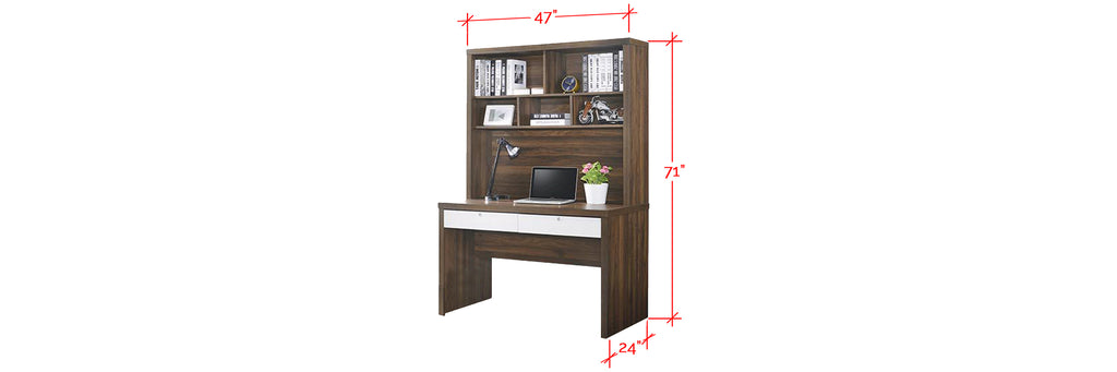 Ayer Series 1 Study Table In Walnut