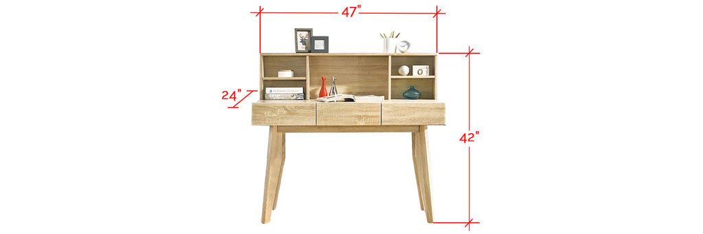 Ayer Series 2 Study Table In Natural