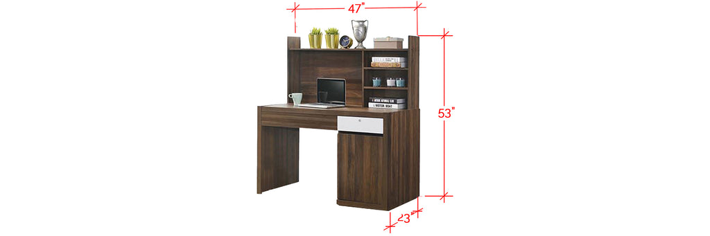 Ayer Series 2 Study Table In Walnut