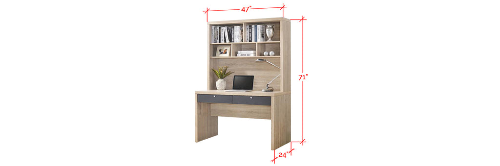 Ayer Series 3 Study Table In Natural