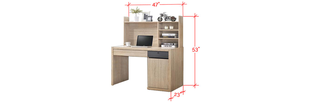 Ayer Series 4 Study Table In Natural