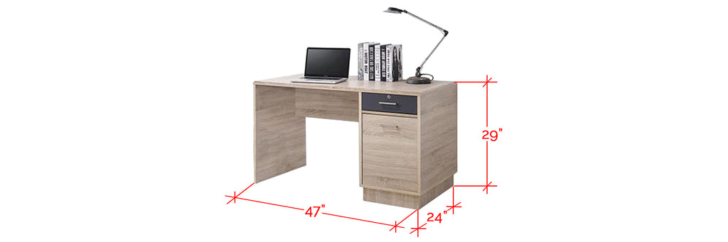 Ayer Series 5 Study Table In Natural