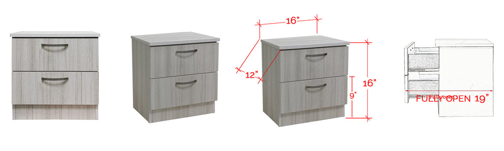 Bane Series Bedside Table In White Wash