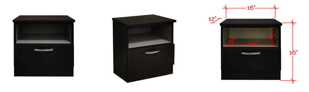 Barn Series Bedside Table In Wenge