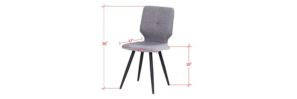 Baxter Faux Leather Dining Chair In Grey