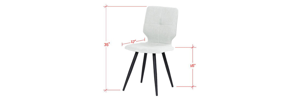 Baxter Faux Leather Dining Chair In White