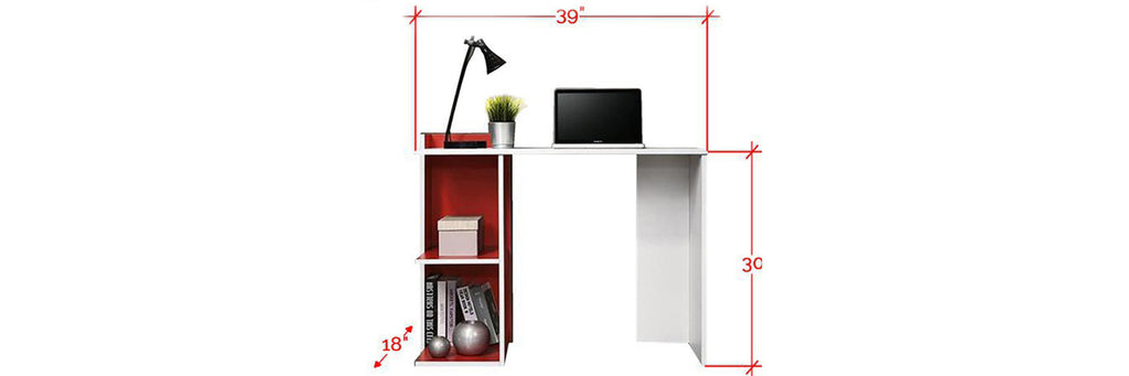 Brann Series Study Table In White Red