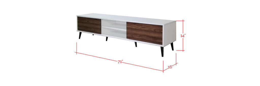 Breslin 6 Ft. TV Console In White