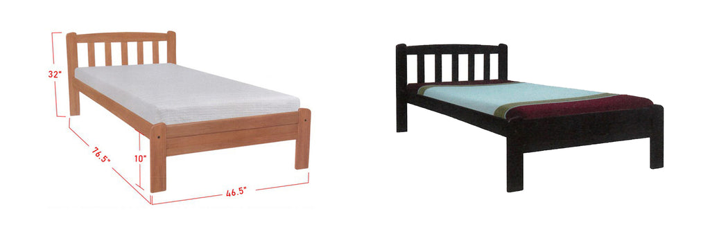 Caelan Wooden Bed Frame Cherry, And Walnut In Super Single Size