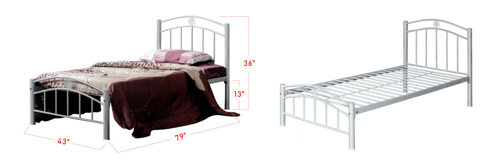 Camila Series 1 Metal Bed Frame White In Super Single Size