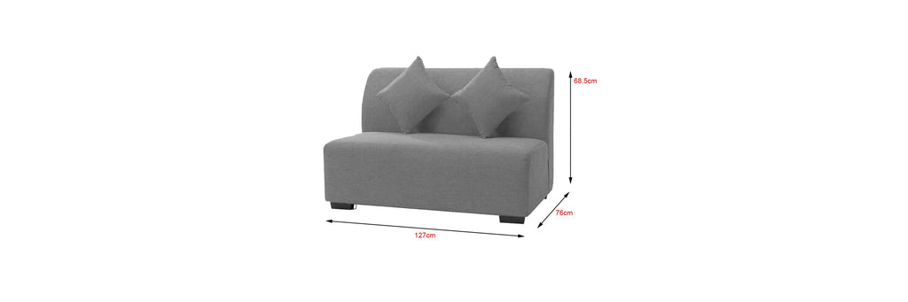 Canro 2 Seater Fabric and Faux Leather Sofa