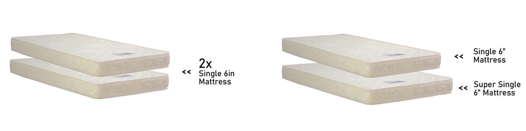 Furnituremart Carlin 3 in 1 Upholstered Bed Frame, Pull Out Bed, and Mattress