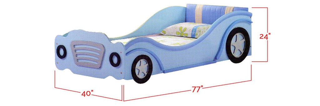 Copy of Marc Series Children Car Bed Sky Blue In Single Size