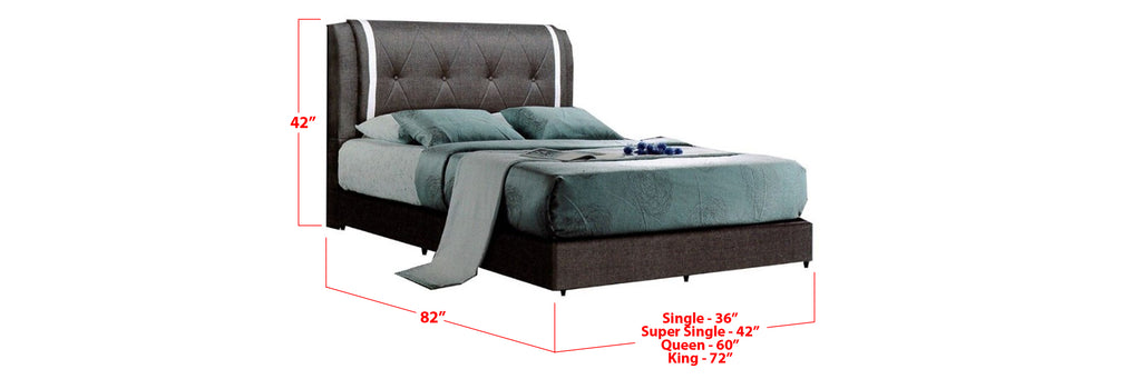 Ember Faux Leather Bed Frame Grey White In Single, Super Single, Queen, and King SizeDarby Faux Leather Bed Frame Brown White In Single, Super Single, Queen, and King Size