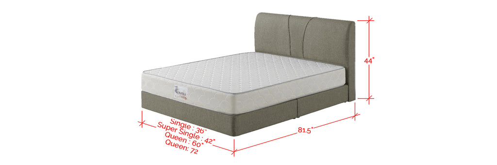 Fanny Series Fabric Divan Bed Frame In Single, Super Single, Queen, And King Size