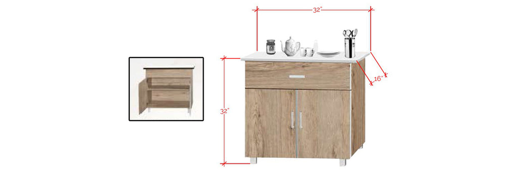 Forza Series 1 Low Kitchen Cabinet In Natural