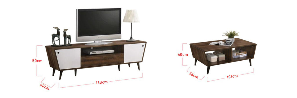 Alex Smart Series Matching Coffee Table and TV Stand
