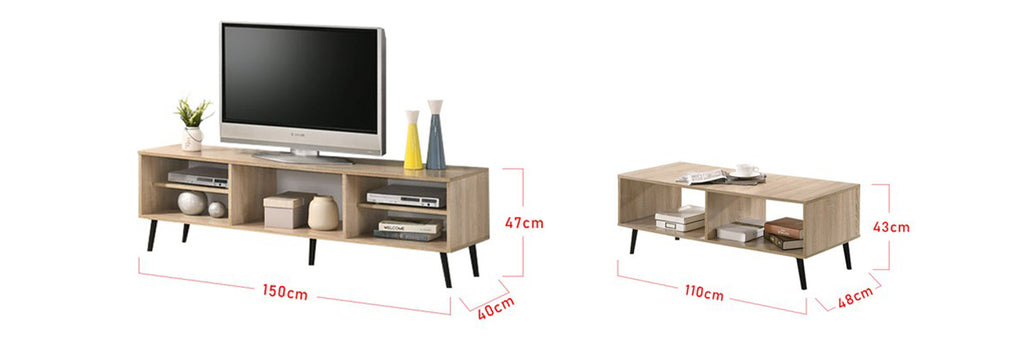 Furnituremart Andy Smart Series Matching Coffee Table and TV Stand