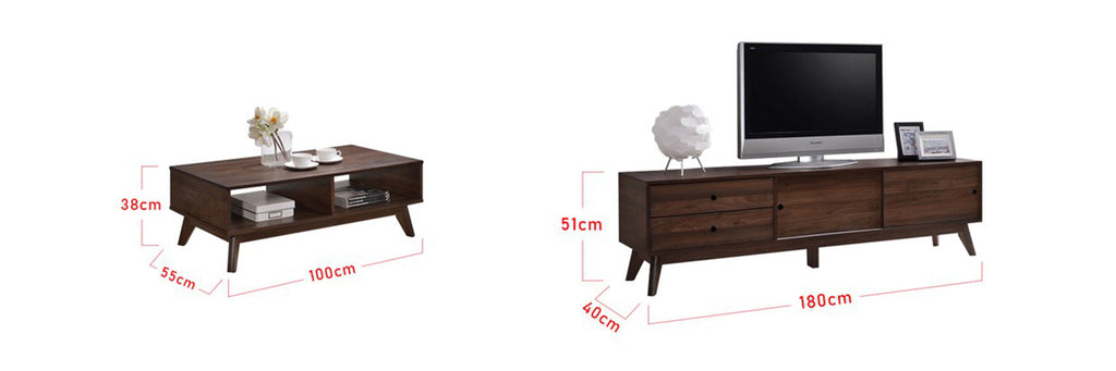 Furnituremart Axel Smart Series Matching Coffee Table and TV Stand