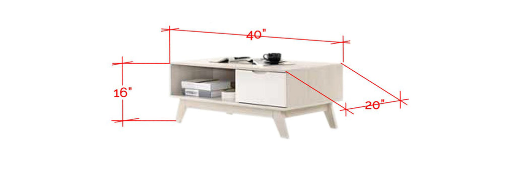 Furnituremart Dino Rectangle Coffee Table With Storage