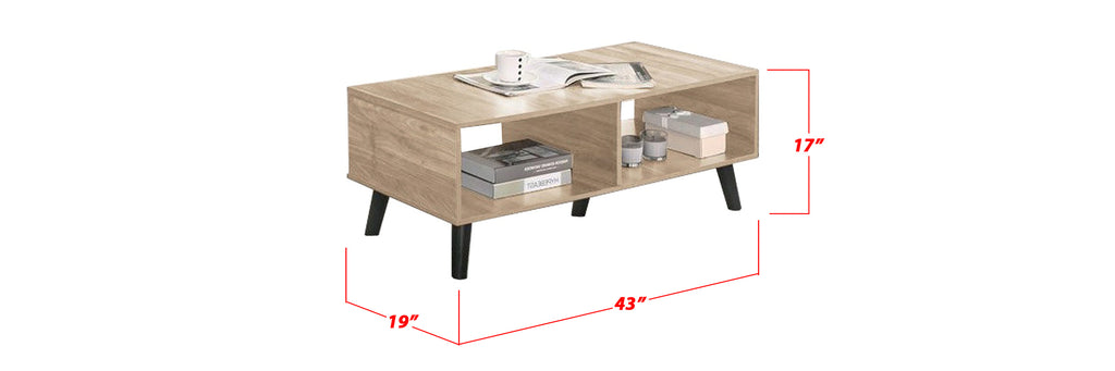Furnituremart Lionel Square Coffee Table With Storage