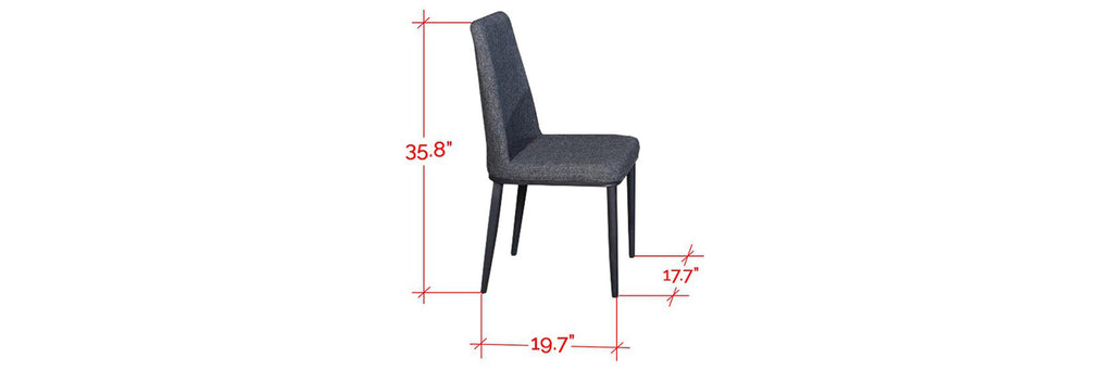 Oscar Faux Leather Dining Chair In Grey