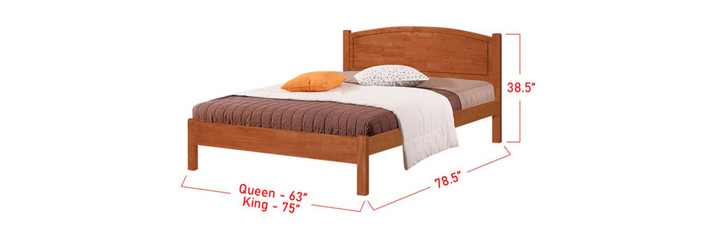 Gio Wooden Bed Frame Natural In Queen and King Size