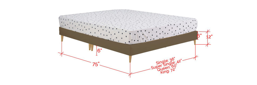 Haggas Series Leather Divan Bed Frame In Single, Super Single, Queen and King Size