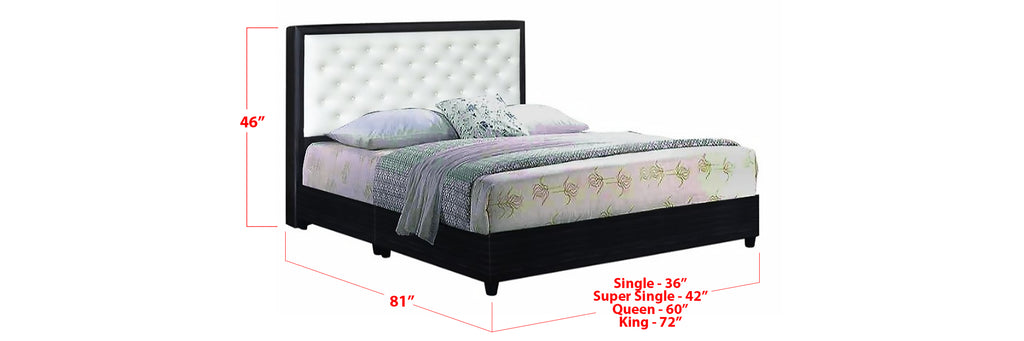Jacques Faux Leather Bed Frame In Single, Super Single, Queen, and King Size