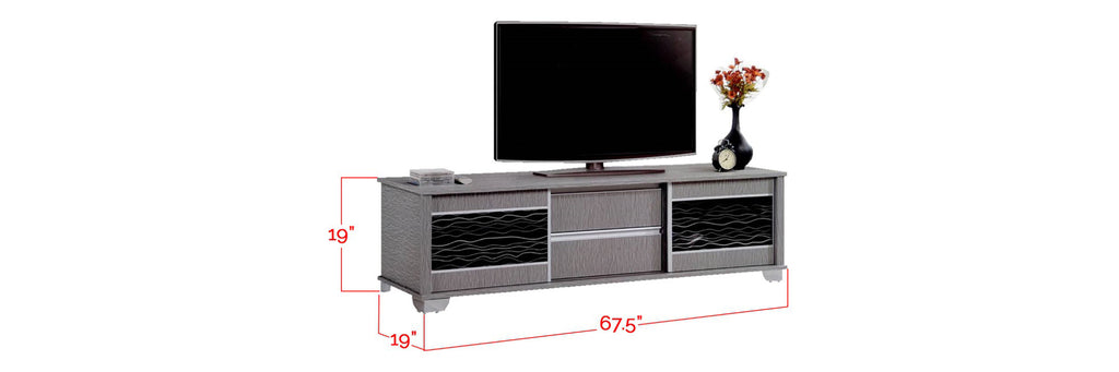 Jesse 6 Ft. TV Console In Grey