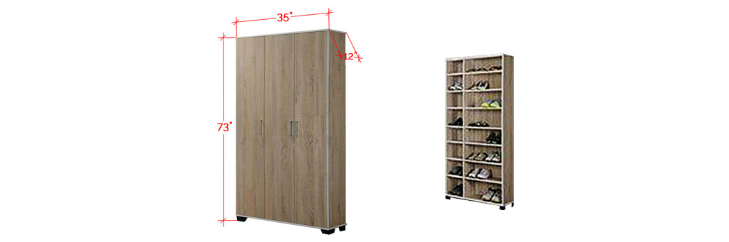Jinnie Series Tall Shoe Cabinet In Natural