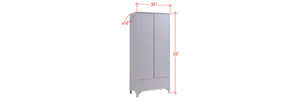Jinnie Series Tall Shoe Cabinet In White