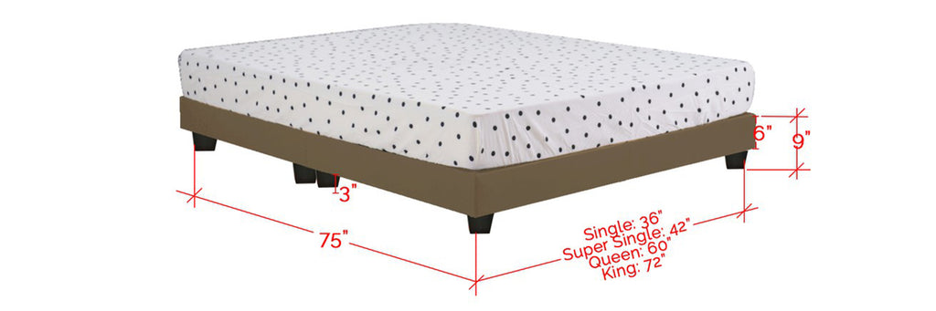 Kanto Series Leather Divan Bed Frame In Single, Super Single, Queen and King Size