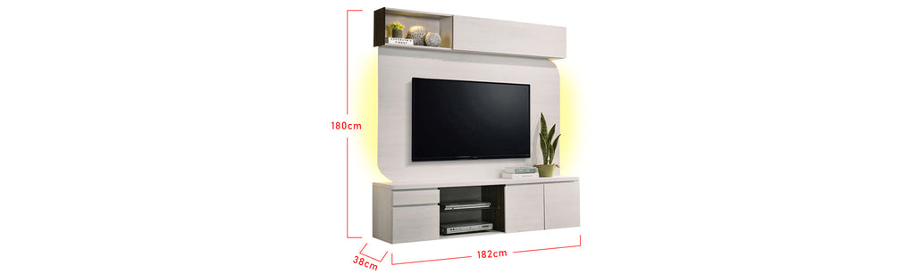 Kaylee 6 Ft. Wall Mounted TV Console With Backlight